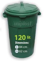 cumpără Cos plastic cu capac p/u deseurilor - 120L (verde) în Chișinău