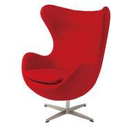 купить Кресло обитое, пластиковое с металлической ножкой 760x730x890 мм, красное в Кишинёве