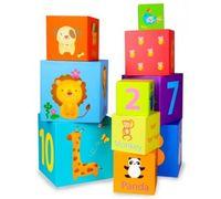 """Деревянные кубики-пирамидка """"Дикие звери"""" Classic World 3567"""