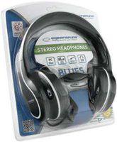 """купить Esperanza EH136K """"BLUES"""" Black, Stereo audio Headphones with Volume control, 5 m cable lenght в Кишинёве"""