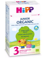 Hipp 3 Organic Junior молочная смесь, 12+мес. 500 г