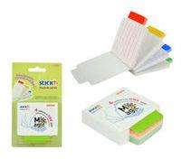 Блок для заметок STICK`N, 70x70, 100 листов, белый в цв. линейку, с индексом