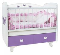Bambini Double New Violet Butterflies