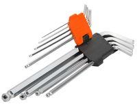 Ключи шестигранные 91,5-10mm) 9шт длинные с футляром Wokin