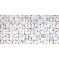 Влагостойкая панель мозаика геометрия оранжевый