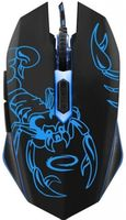 Mouse Esperanza SCORPIO MX203, Gaming mouse, 2400dpi, optical sensor, blue LED, USB braided cable