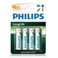 Батарейка Philips LONGLIFE AA B4 (4 шт.), R6 LONGLIFE B4
