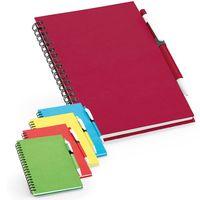Тетрадь с ручкой ROTHFUSS B6, 160 л, пруж, линия красная