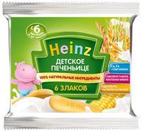 Heinz детское печенье 6 злаков с 6 мес. 60г