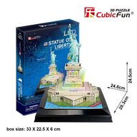 3D PUZZLE Statue of Liberty LED