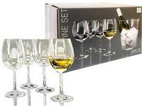 Set galeata pentru gheata si 4 pahare pentru vin alb Atmosfera