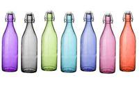 Бутылка с зажимной крышкой Giara Fun 1l, разных цветов