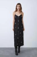 Платье ZARA Черный в цветочек 7521/316/800