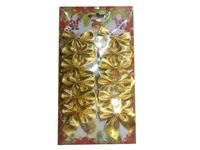 купить Набор бантиков 12шт, 5cm золотых в Кишинёве