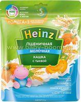Heinz Каша молочная пшеничная с тыквой и Омега 3 (5m+) 200 гр.