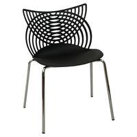 купить Пластиковый стул с хромированными стальными ножками 530x590x840 мм, черный в Кишинёве