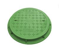 cumpără Capac canalizare cu rama dn.500/ 1t verde pentru zone pietonale/gradina (dn560mm, h=55mm, 9kg) în Chișinău