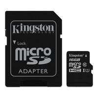Kingston 16GB microSDHC Class10 UHS-I with SD adapter