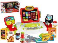 Set casier cu acessorii Happy cashier rosu