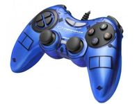 Gamepad Esperanza FIGHTER EGG105B  Blue, Vibration Game Pad, 16 buttons, 2 sticks, Ergonomic design, 2 modes (analog and digital), Soft sweat-resistant surface coating, PC Win 7,8,10 compatible, USB