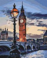 Pictura pe numere 40x50 Londra la amurg 03555