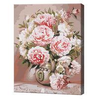 Vază cu bujori, 40х50 cm, pictură pe numere BS51372