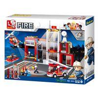 SLUBAN CONSTRUCTOR FIRE STATION, разноцветный