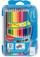MAPED Карандаши цветные MAPED, 12 цветов + пластиковый пенал