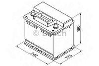 Bosch S3 12V 56Ah 480EN 242x175x190 -/+