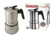 Кофеварка на 6 чашек Pedrini Caffe, нержавеющая сталь