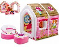 Intex Детский надувной домик Princess с креслами
