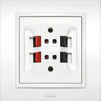 ZENA Розетка аудио двойная белая EL-Bi