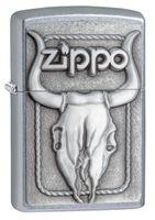 Zippo 20286 Bull Skull Emblem Street Chrome