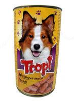 Tropi  консервы для собак с птицей,1,250g
