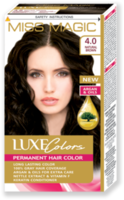 Vopsea p/u păr, SOLVEX Miss Magic Luxe Colors, 108 ml., 4.0 - Castaniu natural