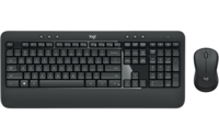 Wireless Keyboard & Mouse Logitech MK540 Advanced, Spill-resistant, Quiet typing, 2xAA/1xAA, Black