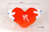 Сердце с велюровыми медвежатами арт. 10-690