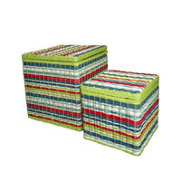 cumpără Set 2 bucăți scaun cub din ratan 460x460x500 mm în Chișinău