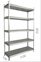 купить Стеллаж оцинкованный металлический Gama Box  1490Wx480Dx1530H, 5 полки/МРВ в Кишинёве