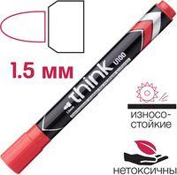 DELI Маркер перманентный DELI Think 1.5мм красный