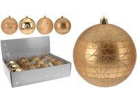 cumpără Glob p-u brad cu ornament 80mm auriu în Chișinău