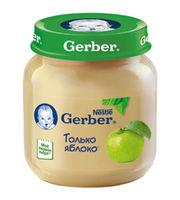Gerber пюре яблоко 4+мес. 130г