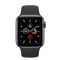 Apple Watch Series 5 40mm/Space Grey Aluminium Case With Black Sport Band, MWV82 GPS
