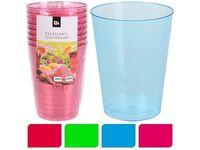 Набор стаканов пластиковых разноцв, 8шт