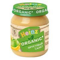 Heinz пюре органик фруктовый салатик, 6 мес, 120 гр