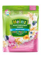 Каша Heinz молочная многозерновая слива, абрикос, черника, 12 месяцев,