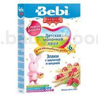 Bebi молочная каша Premium злаки с малиной и вишней 200gr.(6+)