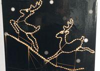 """Световая фигура """"Пара Оленей"""", дюролайт, 62X7X67сm, L8m"""