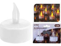 Набор свечей LED чайных 2шт D5cm, 60 ч
