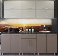 Кухонный гарнитур Bafimob Modern (High Gloss) 1.8m no glass Beige/Cappuccino